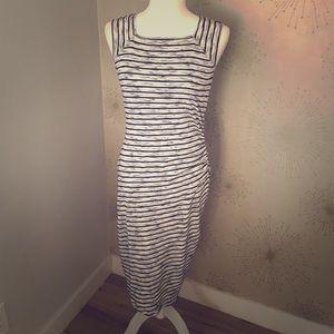 Side Ruched Midi Dress